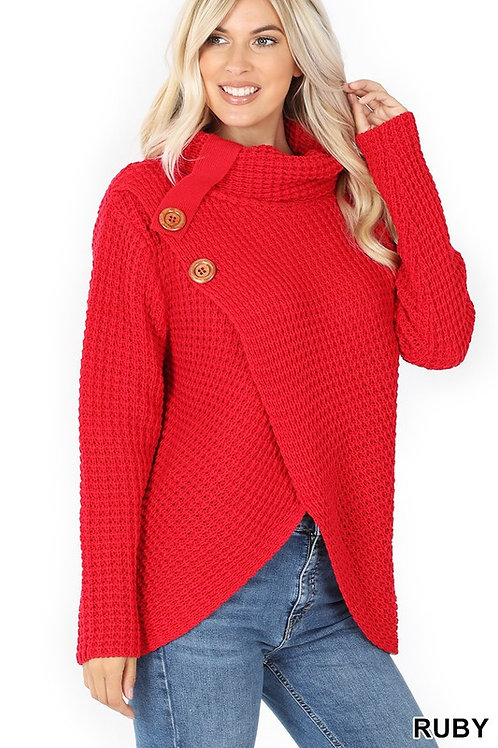2 Button Chunky Sweater