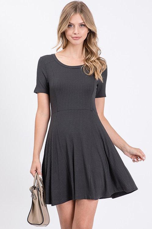 Rib Jersey Dress