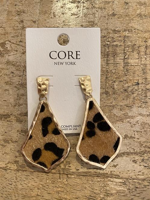 Leopard Gold Plate Earrings