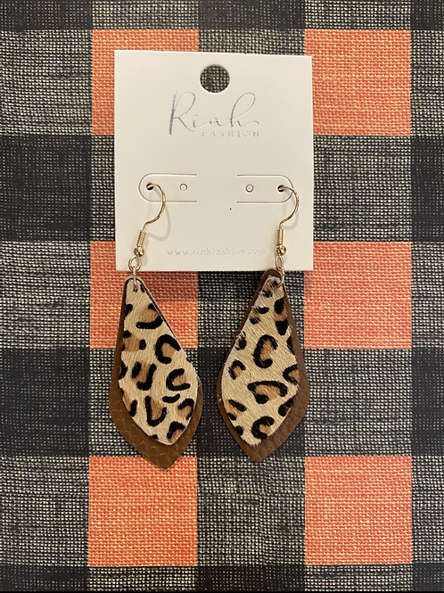 Felt Cheetah Earrings