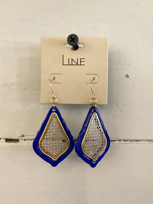 Blue/Gold Earrings