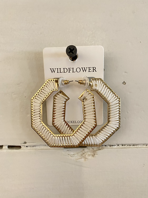 White Knit Hoops