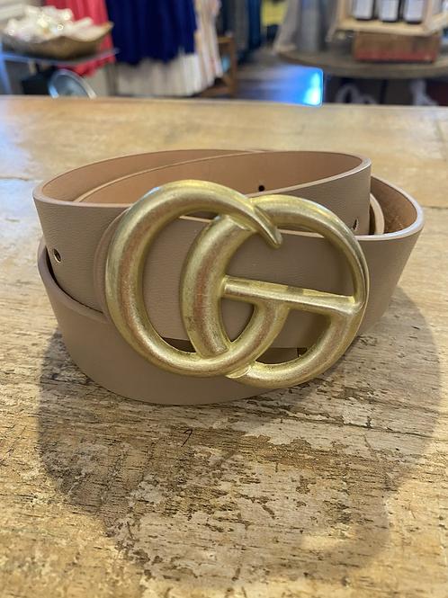 GG- Matte Buckle Belt