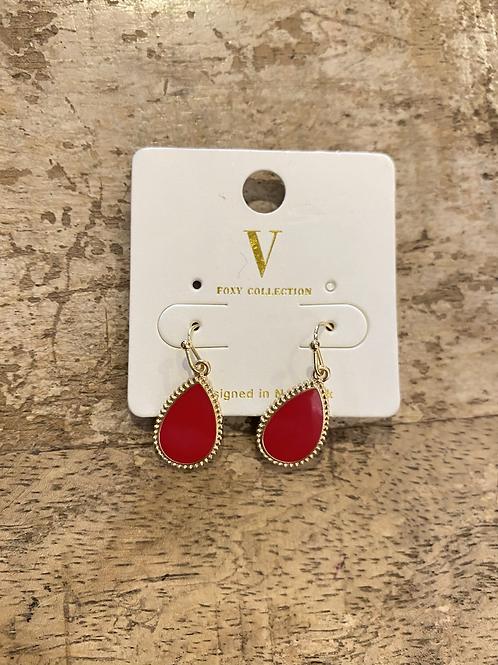 Red Gem Earrings
