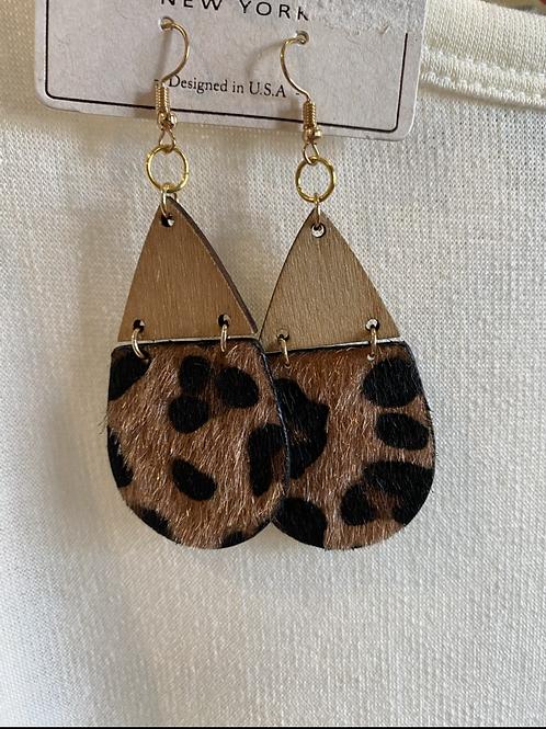 Leopard Tear Drop Earring