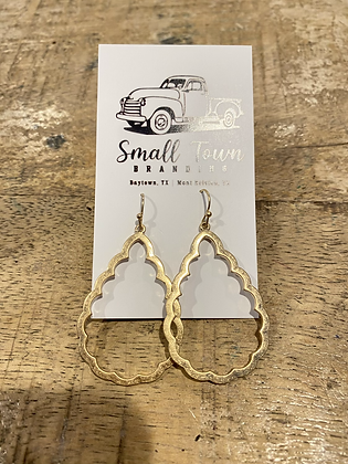 Gold Scalloped Hoops