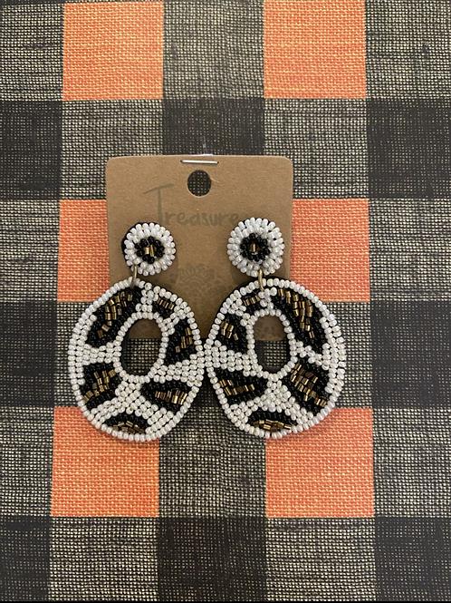 Animal Print Beaded Earrings