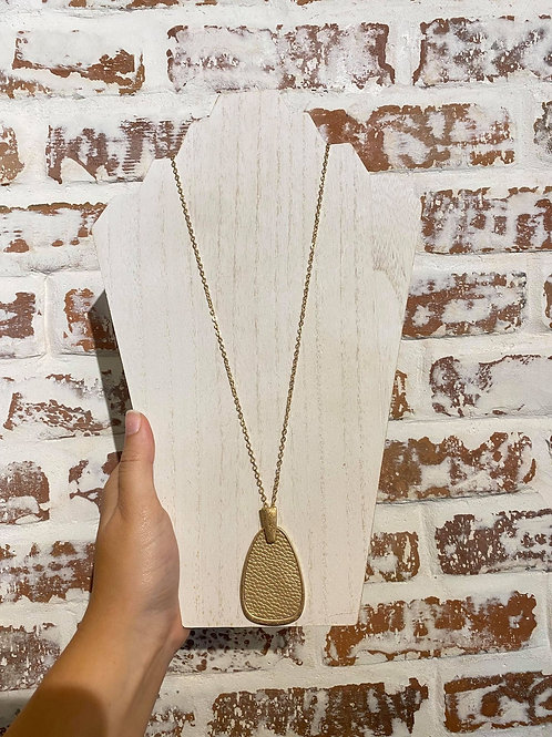Textured Long Necklace