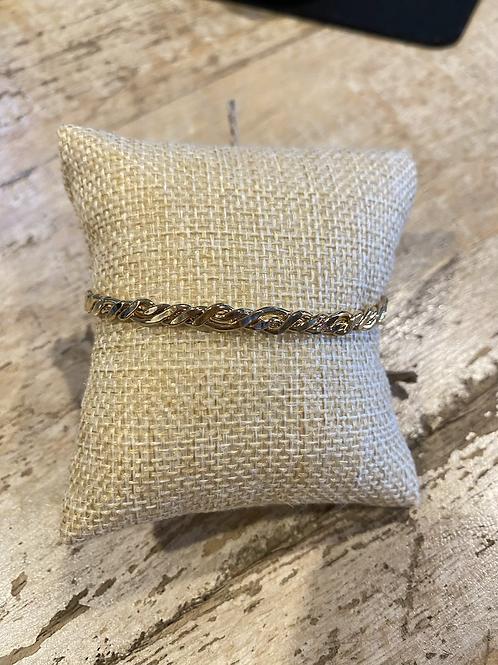 Gold Cuff Braided Bracelet