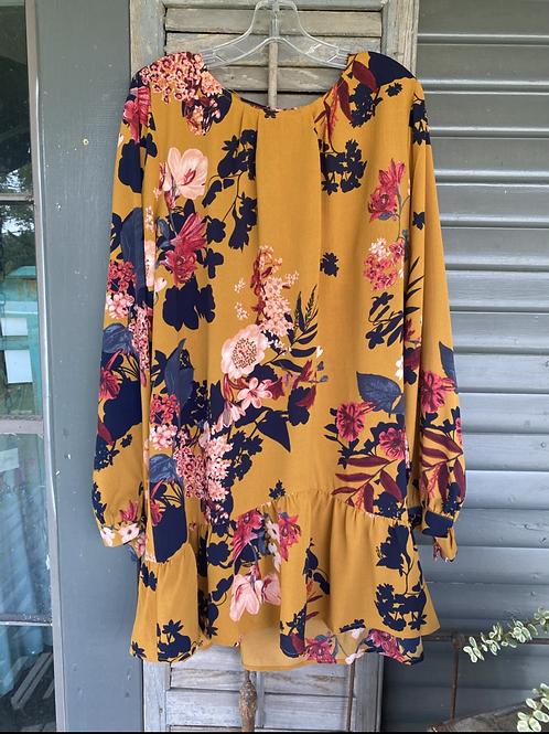 Charlotte Mustard Dress
