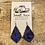 Thumbnail: Blue Leopard Earrings