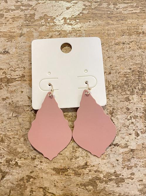 Pink Plate Earrings
