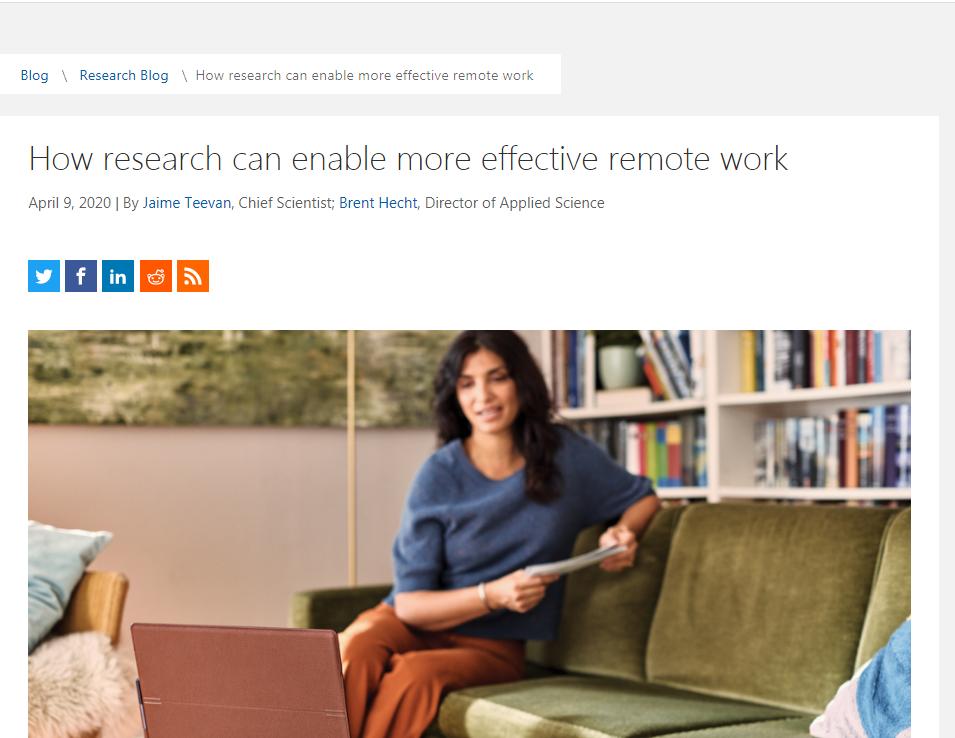 Microsoft Research Blog, April 2020