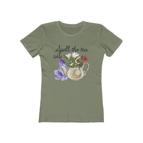 Spell the Tea Sis Boyfriend Tee