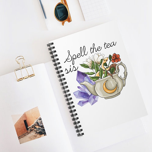 Spell the Tea Sis Spiral Bound Notebook