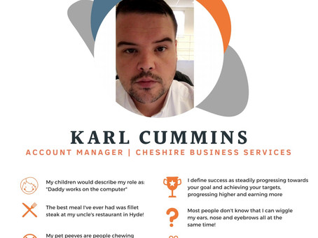 Meet Karl from Cheshire Business Services...