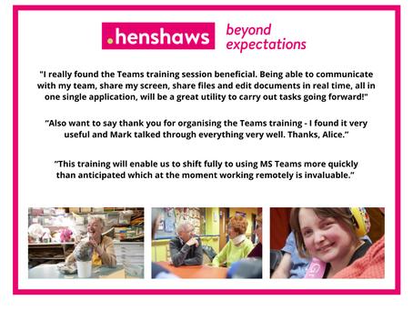 Supporting Henshaws