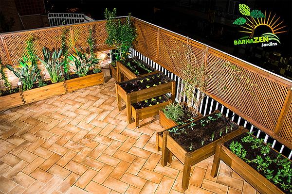 Huerto Urbano, madera, jardineras de madera.
