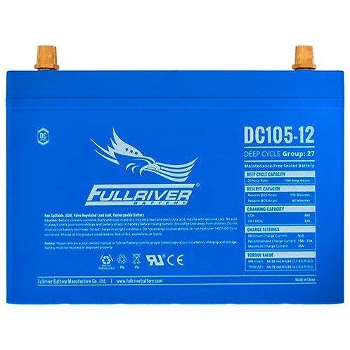 Fullriver 12V, 105Ah Solar/Inverter Deep Cycle AGM Battery (Nigeria)