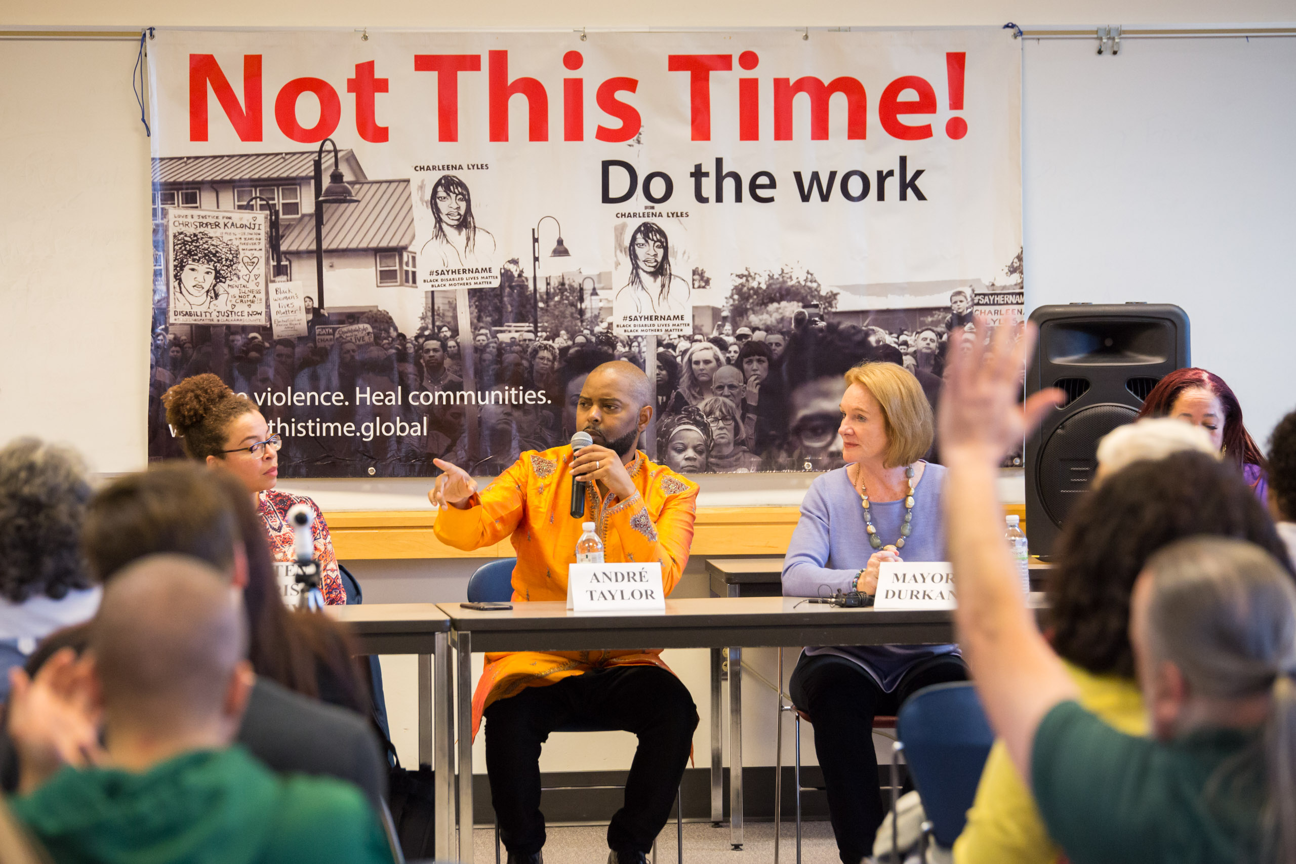 Not This Time Mayoral Meeting