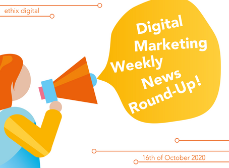 Weekly Digital Marketing News Round-Up | October 16th