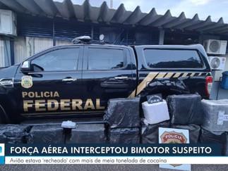 Força aérea interceptou bimotor suspeito