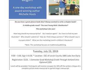 Writing Children's books Workshop with Author Michelle Houts 7/23/19