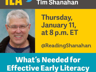 ILA Hosting Twitter Chat with Dr. Tim Shanahan 1/11