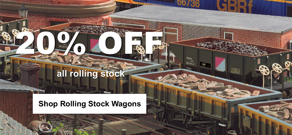 20% off rolling stock wagons discount we