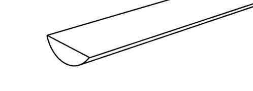 White Guttering Plastic Profile 2mm by 1mm by 500mm