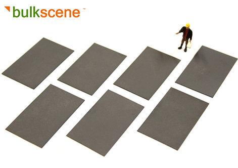 Black Steel Plate Loads (x7) 45mm x 27mm