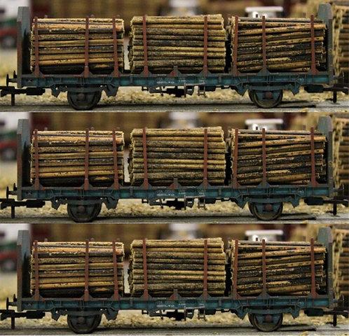 Small Diameter Timber Logs 40mm - 3 Wagon Loads