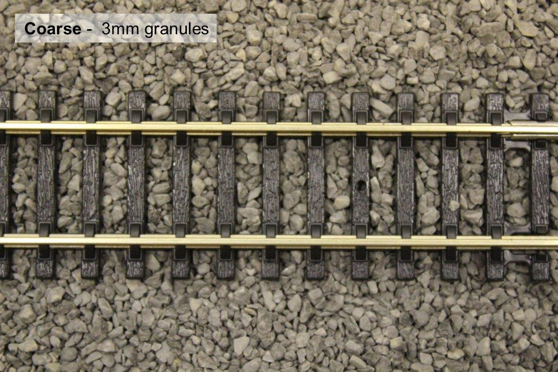 Coarse 3mm gravel with track photo