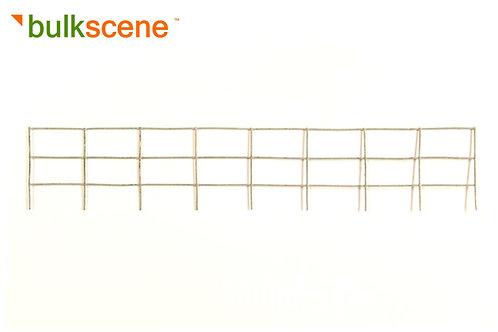Plain Galvanised Metal Fence Frame - 200mm
