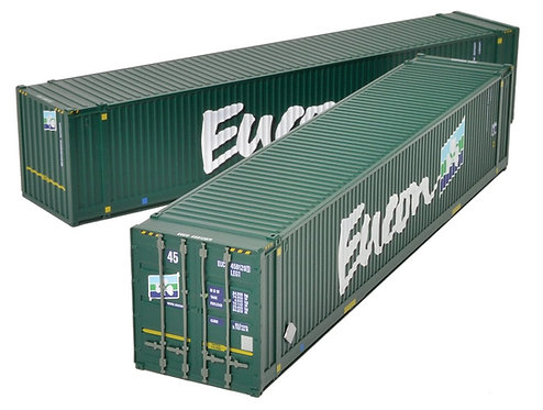 Bachmann 36-101 Eucon 45ft Containers (x2) OO Gauge 1/76 (O22)