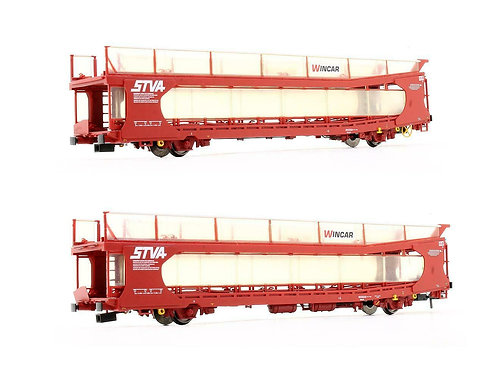 Bachmann 38-250 IPA Twin Double Deck Car Transporter STVA Red (K12)