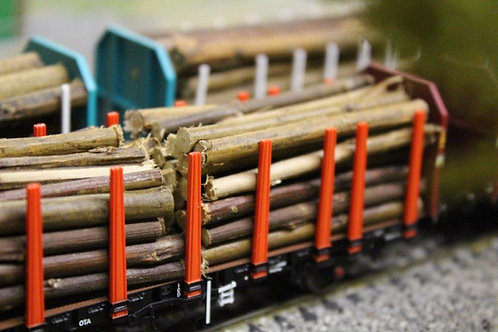 Timber Bark Logs 64mm - 1 Pack 60 Logs
