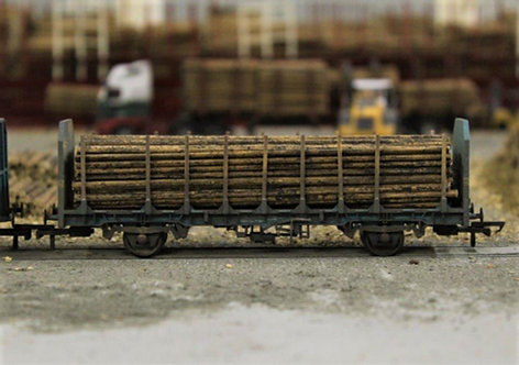 Small Diameter Timber Logs 128mm - 1 Wagon Load