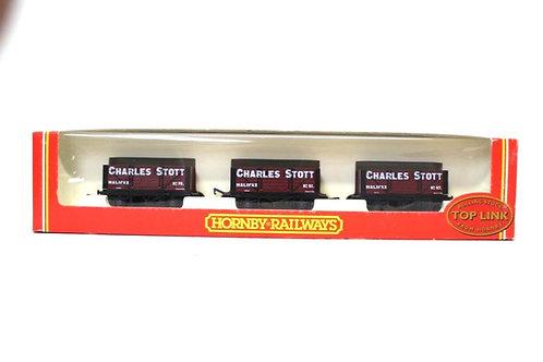 Hornby R6005 'Charles Stott' Open Coal Wagons (x3) Z3