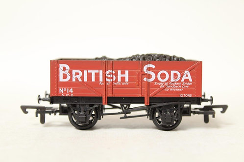 Dapol WR3-02 5 Plank 'British Soda' Red Open Coal Wagon T6