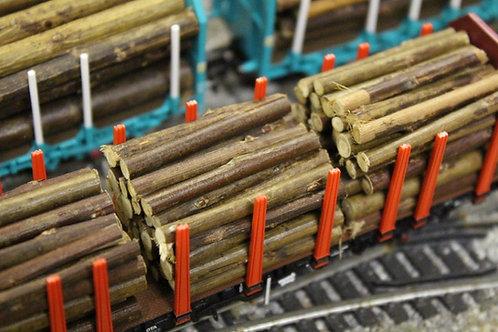 Timber Bark Logs 40mm - 3 Packs 270 Logs