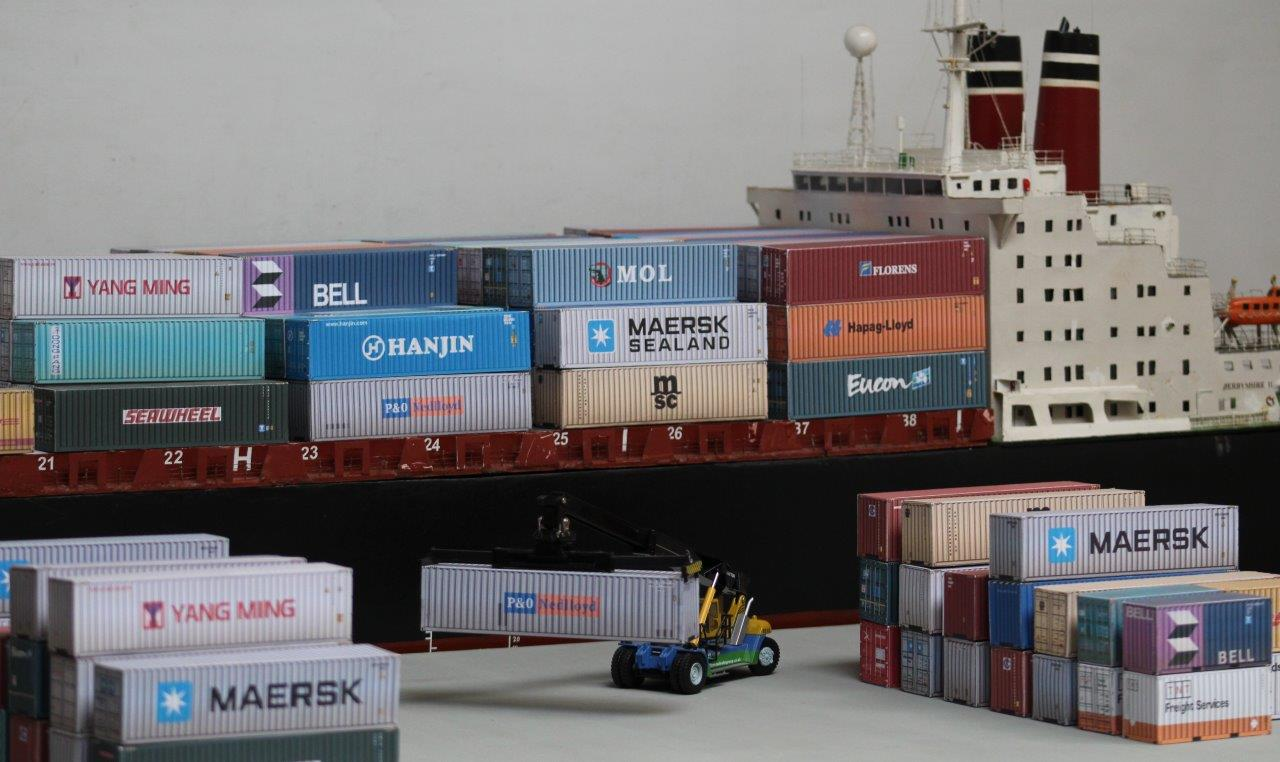 Container Ship Dockside OO
