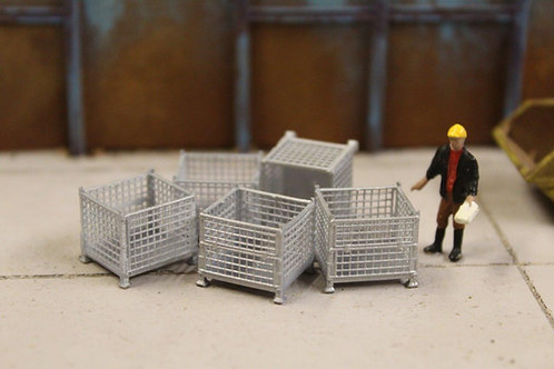 5 x Silver Mesh Stillage Containers