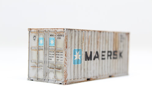 Dapol 20ft Maersk PRO-WEATHERED Container OO F10