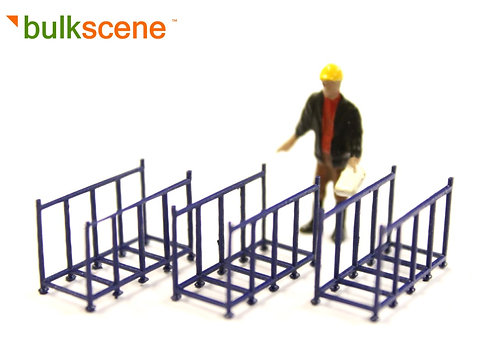 3 x Blue Frame Cage for spacer posts
