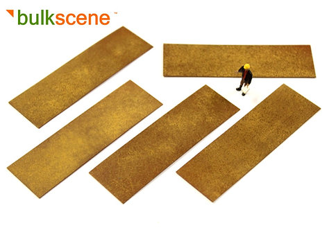 Rusty Weathered Plate Loads (x5) for Plate Wagons