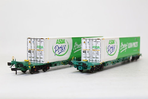 Bachmann 37-303 Intermodal ASDA 45ft Container Wagons N8