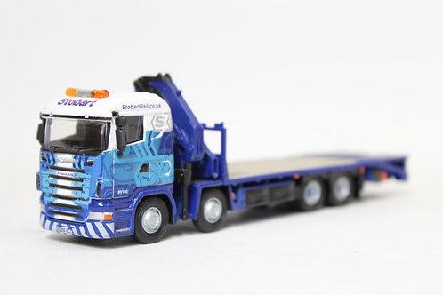 Oxford Eddie Stobart Flat Bed Lorry with Hiab Crane OO Gauge (Q18)