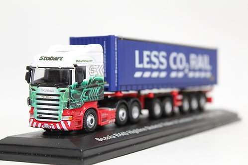 Oxford Scania Stobart Container Skeletal Trailer Lorry 1/76 OO Gauge (O24)