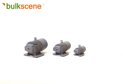 3 x Micro Model Electric Motors - Grey